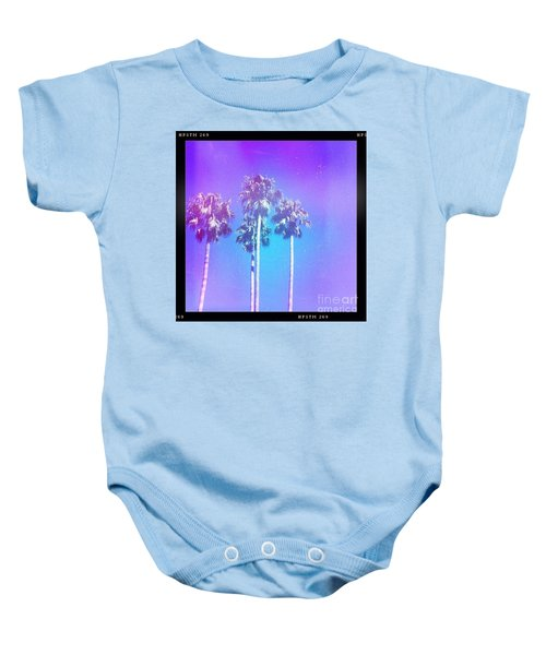 Blue Palms Baby Onesie