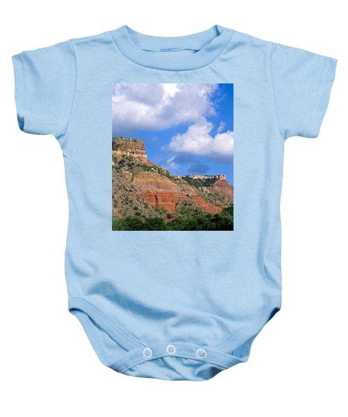 Bluffs In The Glass Mountains Baby Onesie