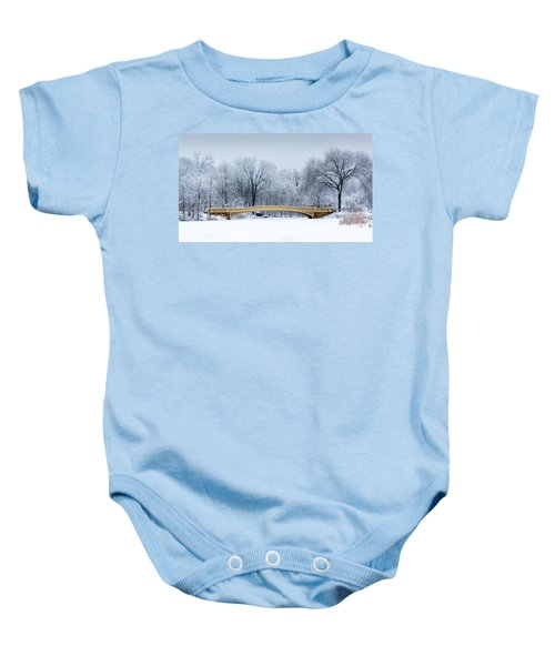 Bow Bridge In Central Park Nyc Baby Onesie