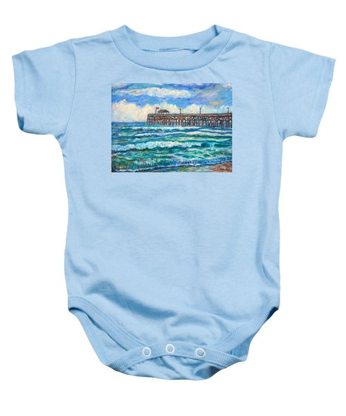 Baby Onesie featuring the painting Breakers At Pawleys Island by Kendall Kessler