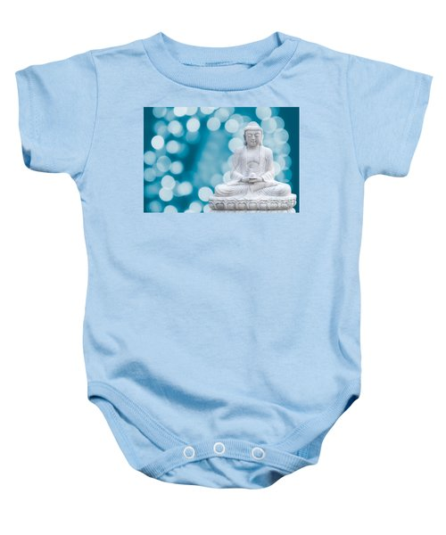 Buddha Enlightenment Blue Baby Onesie