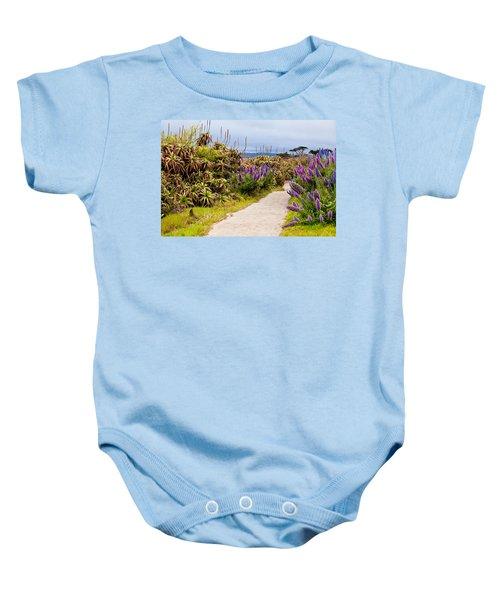 California Coastline Path Baby Onesie