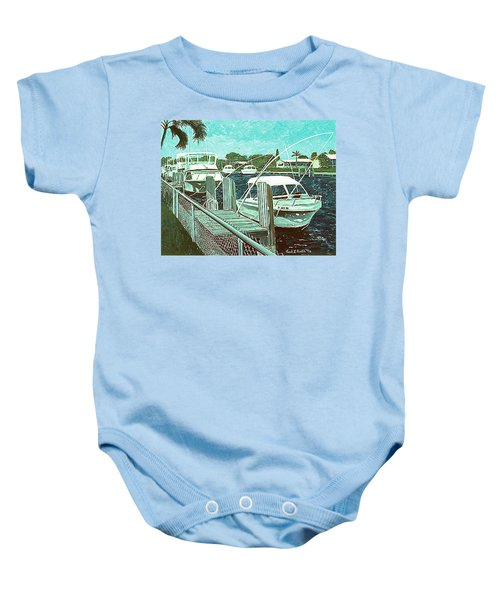 Canal At Pompano Baby Onesie