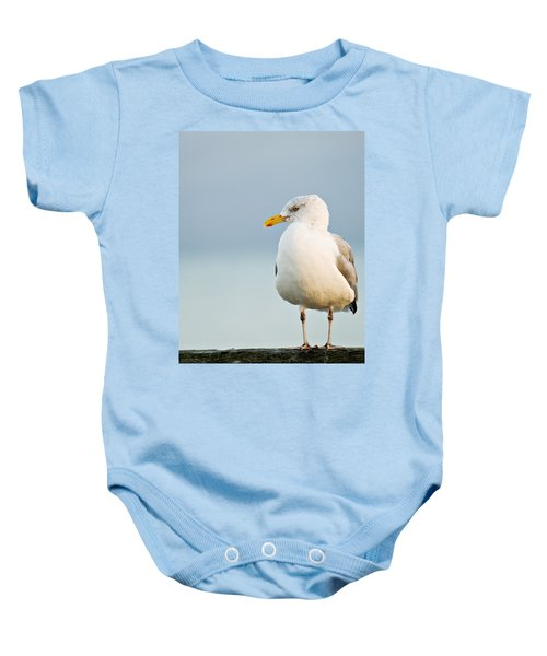 Baby Onesie featuring the photograph Cape Cod Seagull by Renee Hong