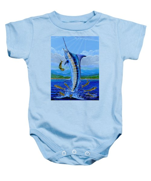 Caribbean Blue Off0041 Baby Onesie by Carey Chen