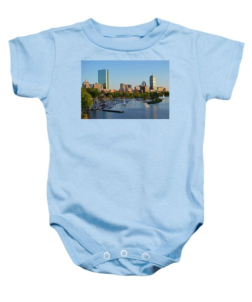 Charles River At Sunset Baby Onesie