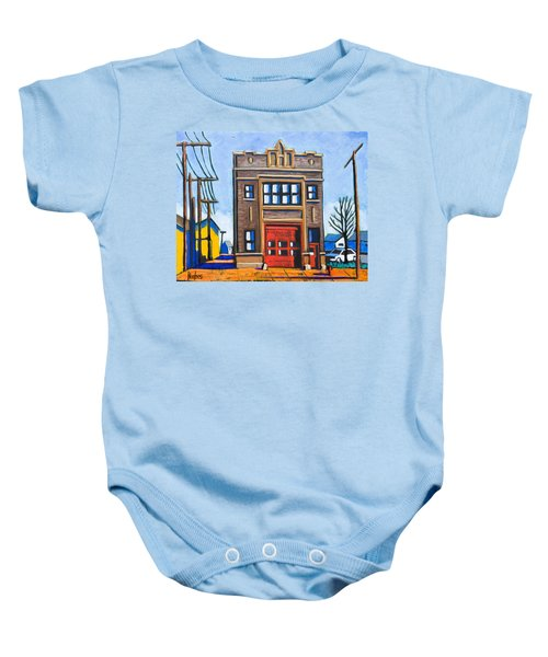 Chicago Fire Station Baby Onesie
