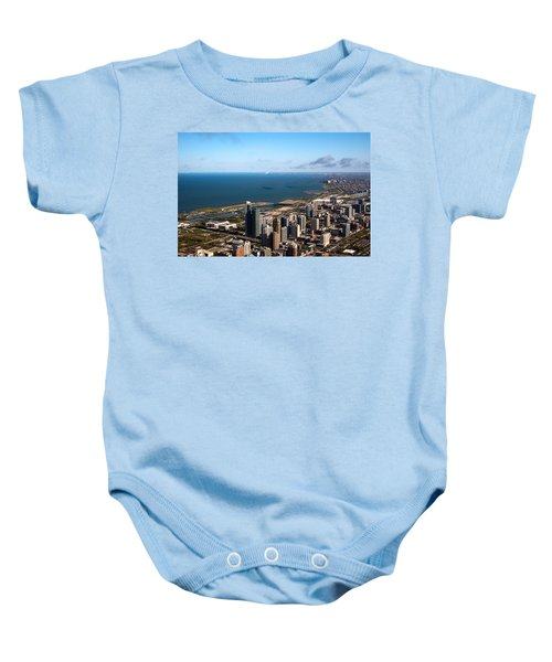 Chicago From Above Baby Onesie