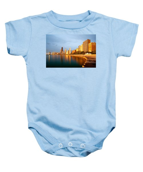 Chicago Skyline Baby Onesie by Sebastian Musial