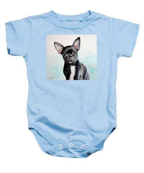 Chihuahua Black Baby Onesie