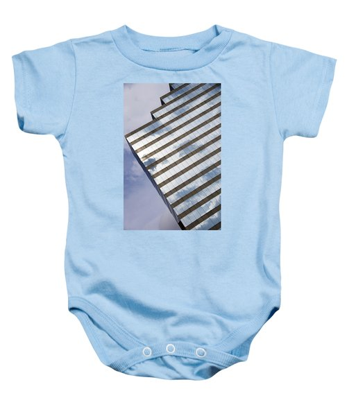 City Cloudscape Baby Onesie