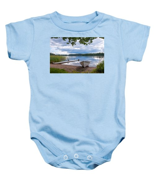 Cloudy Summer Day Baby Onesie