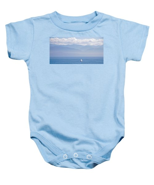 Colors Of Alaska - Sailboat And Blue Baby Onesie