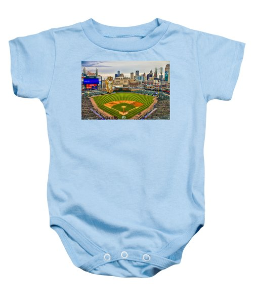 Comerica Park Detroit Mi With The Tigers Baby Onesie