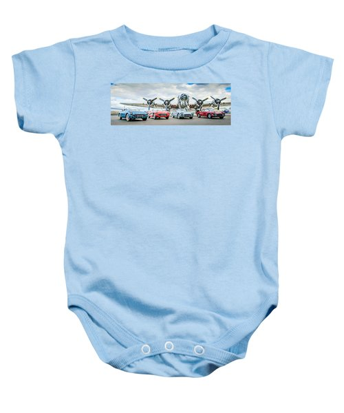 Corvettes With B17 Bomber Baby Onesie