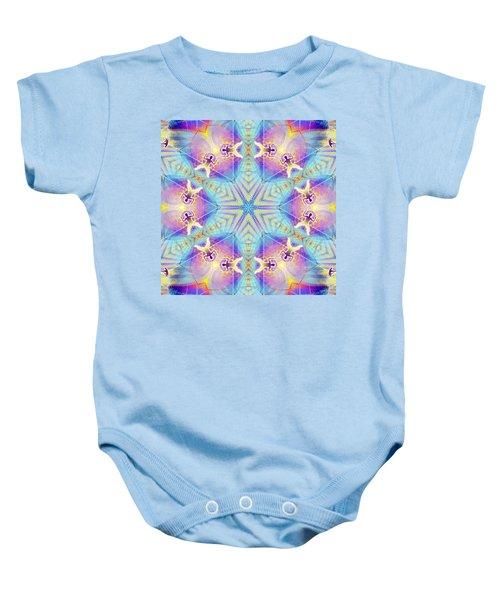 Cosmic Spiral Kaleidoscope 17 Baby Onesie