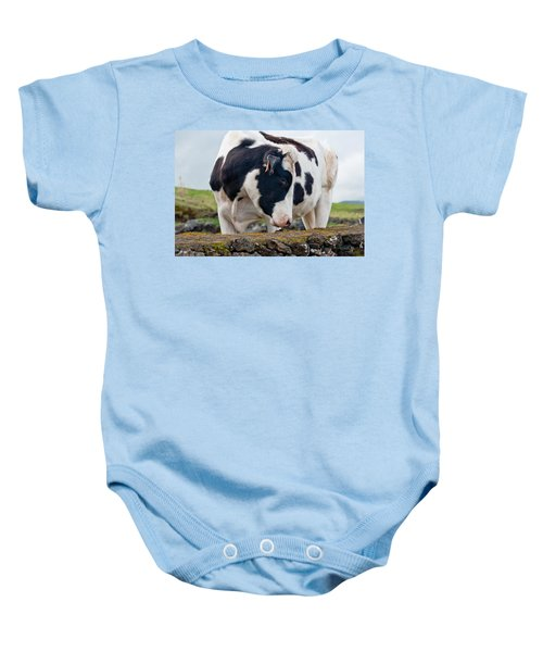 Cow With Head Turned Baby Onesie