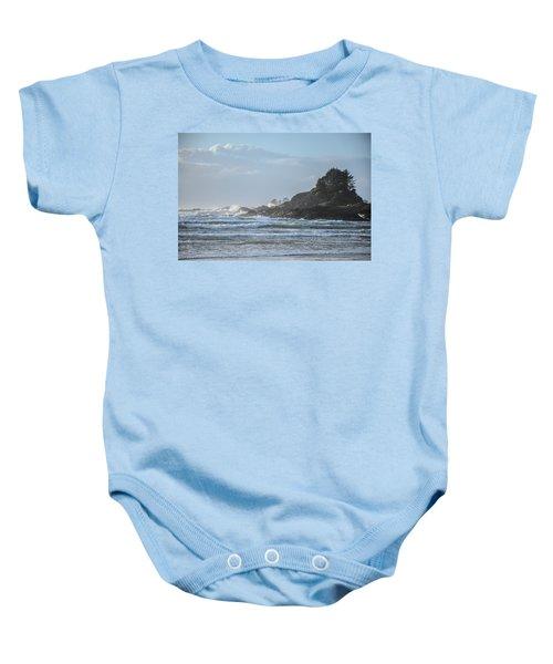 Cox Bay Afternoon Waves Baby Onesie