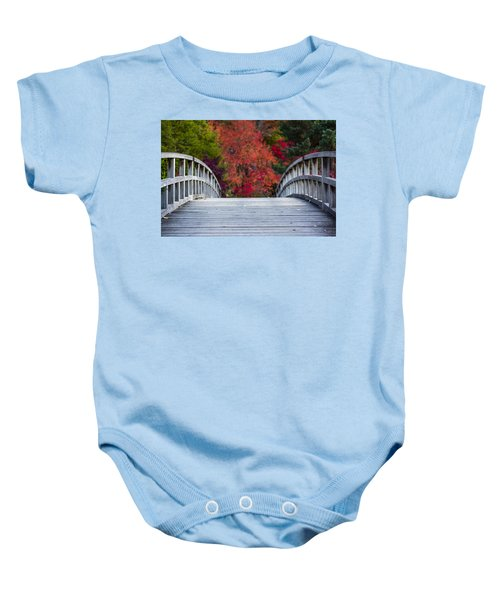 Baby Onesie featuring the photograph Cypress Bridge by Sebastian Musial