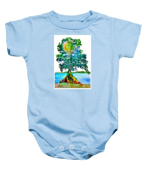 Da107 Cypress Tree Daniel Adams Baby Onesie