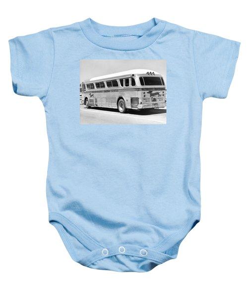 Dachshound Charter Bus Line Baby Onesie