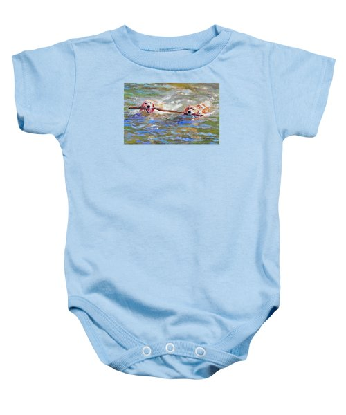 Da152 Sticking Together By Daniel Adams Baby Onesie