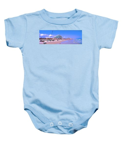 Daytona Main Street Pier And Beach  Baby Onesie