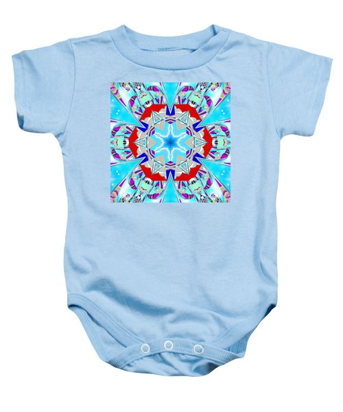 Deep Blue Geometry Baby Onesie