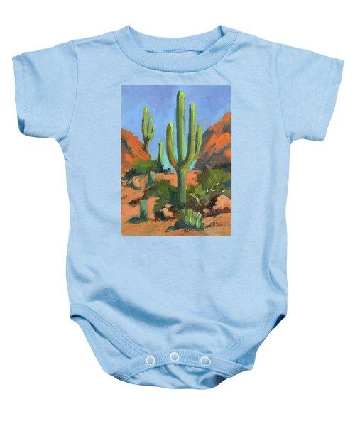 Desert Morning Saguaro Baby Onesie