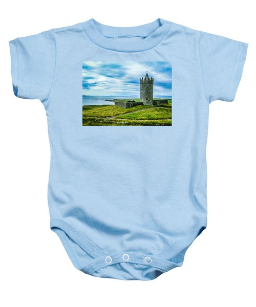 Baby Onesie featuring the photograph Doonagore Castle In Ireland's County Clare by James Truett