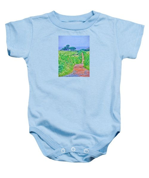 Down To The Sea Herm Island Baby Onesie