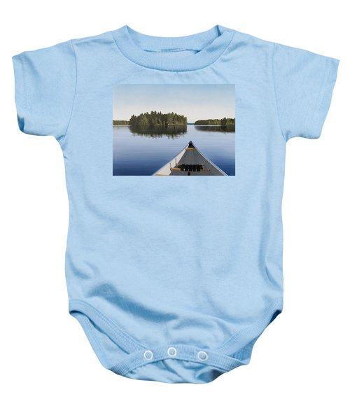 Early Evening Paddle Aka Paddle Muskoka Baby Onesie