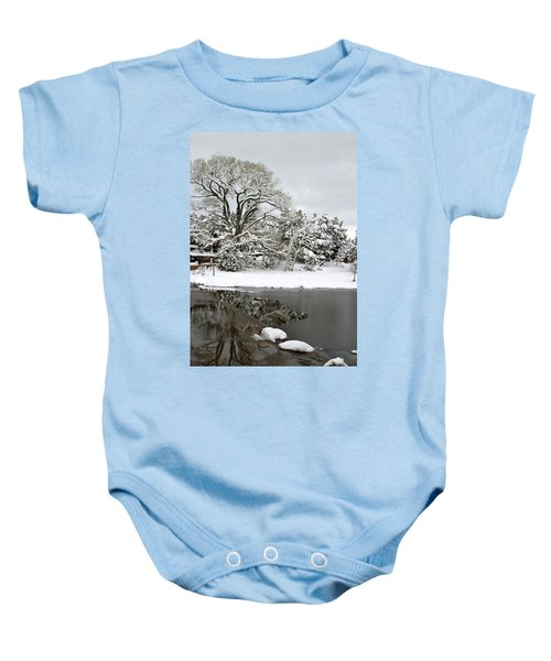 East Verde Winter Crossing Baby Onesie