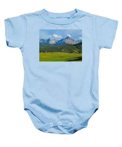 Elk Below Mount Sneffels Baby Onesie