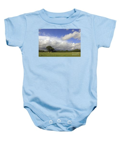English Oak Under Stormy Skies Baby Onesie