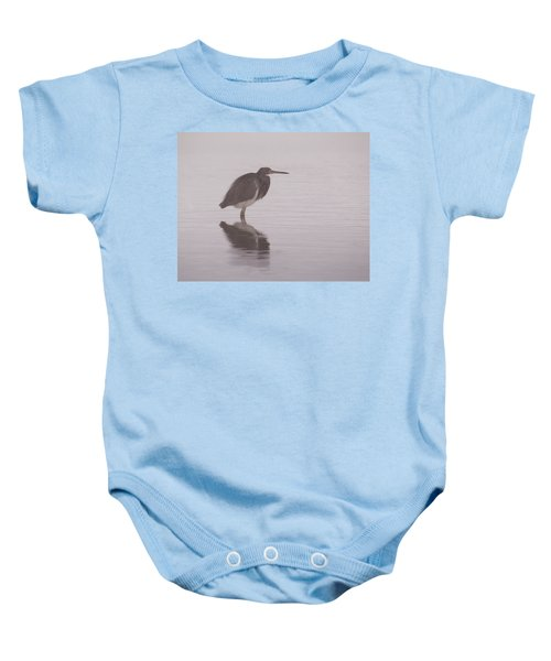 Evening Heron Baby Onesie