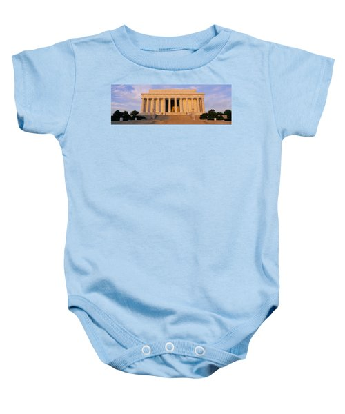 Facade Of A Memorial Building, Lincoln Baby Onesie by Panoramic Images