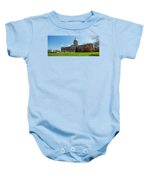 Facade Of State Capitol Building Baby Onesie