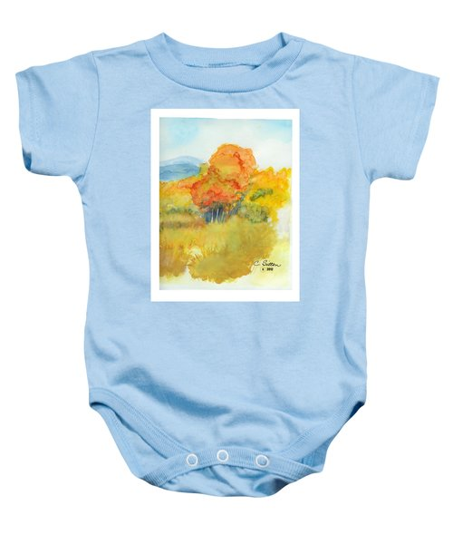 Fall Trees 2 Baby Onesie