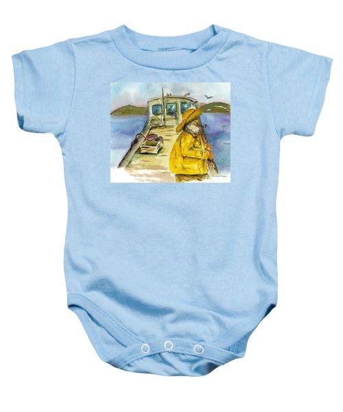 Fisherman Half Moon Bay Baby Onesie