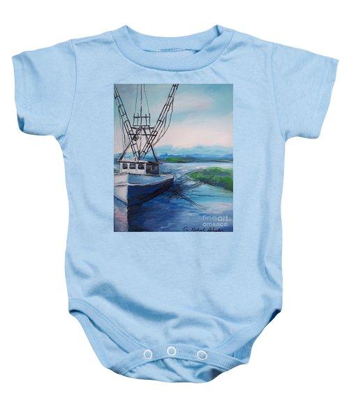 Fishing Trawler Baby Onesie