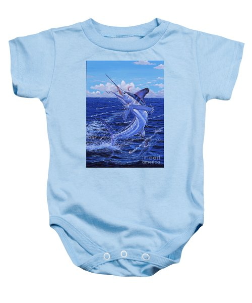 Flat Line Off0077 Baby Onesie by Carey Chen