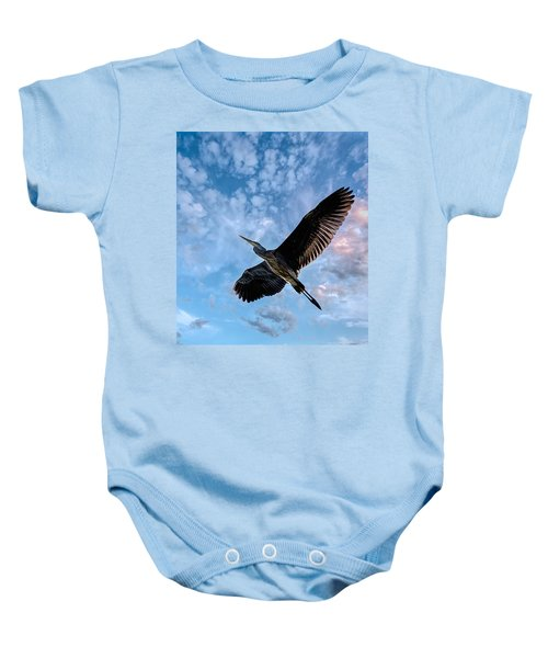Flight Of The Heron Baby Onesie