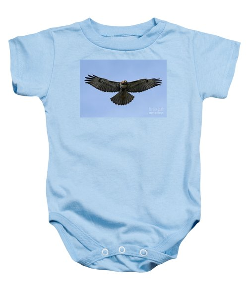Flying Free - Red-tailed Hawk Baby Onesie