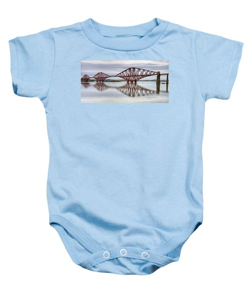 Forth Bridge Reflections Baby Onesie