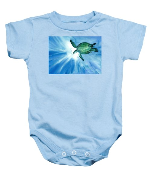 Sea Tutrle 2 Baby Onesie