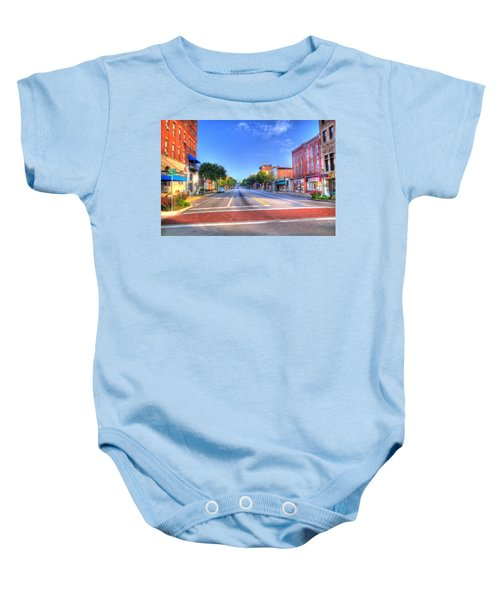 Baby Onesie featuring the photograph Front Street Marietta by Jonny D