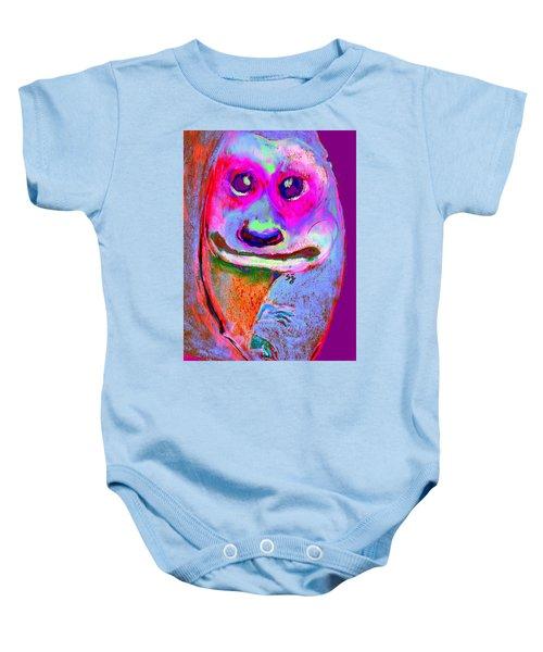 Funky Meerkat Tunnel Art Print Baby Onesie