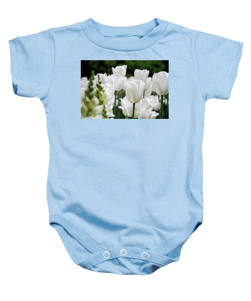 Baby Onesie featuring the photograph Garden Beauty by Jennifer Ancker