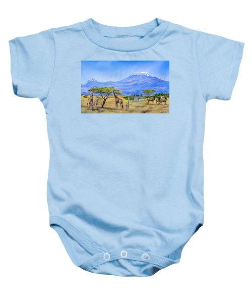 Gathering At Mount Kilimanjaro Baby Onesie